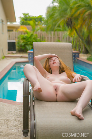 Redhead in green bikinis takes it all of - XXX Dessert - Picture 10