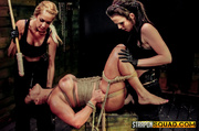 woman submission tied rope