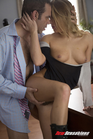 Babe-a-licious blond  in a man's shirt g - XXX Dessert - Picture 11