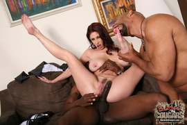 2 on 1, interracial, wet pussy, white
