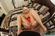 busty curvy blonde pink