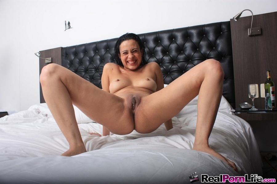 Wife nude smiling spread legs