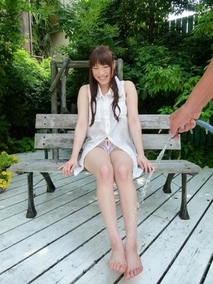 Mouthwatering wench in a white blouse an - XXX Dessert - Picture 1