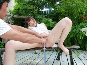Mouthwatering wench in a white blouse an - XXX Dessert - Picture 12