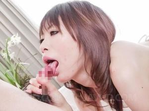Gal in sheer white lingerie masturbates  - XXX Dessert - Picture 10