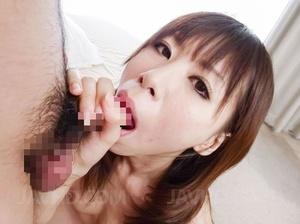 Gal in sheer white lingerie masturbates  - XXX Dessert - Picture 15
