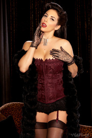 vamp maroon lingerie and