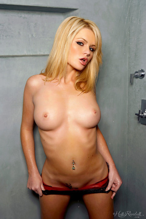 Hypnotised girl in black pants gets naked and striptease in the grey walled washroom. - XXXonXXX - Pic 4
