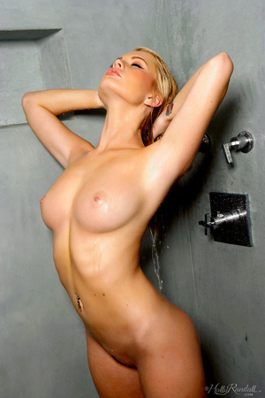 Hypnotised girl in black pants gets naked and striptease in the grey walled washroom. - XXXonXXX - Pic 11