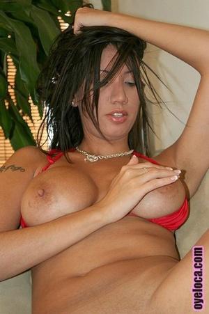 Curvy tattooed woman in red bikini gets  - XXX Dessert - Picture 5