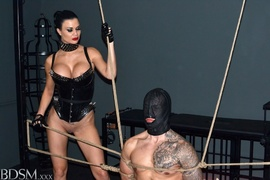bondage, brunette, mistress, rough sex
