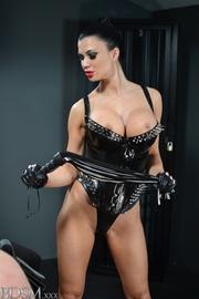 hot ponytailed mistress latex