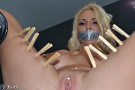 blonde, bondage, high heels, rough sex