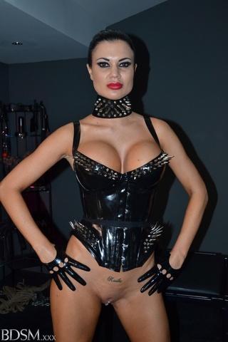 pervert brunette mistress latex