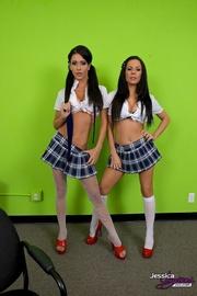 sexy school girls white