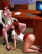 Cool lezzing scene with two ginger hotties in the office. BAD LIEUTENANT