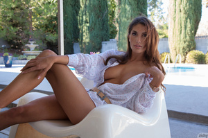 Tanned brunette goddess with big juggs p - XXX Dessert - Picture 5