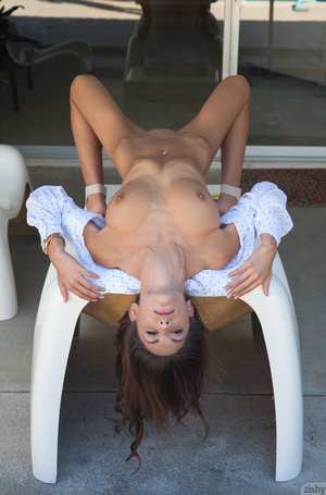 Tanned brunette goddess with big juggs p - XXX Dessert - Picture 10