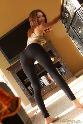 Nude asian legging