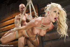 Big-titted blonde gets tortured with bon - XXX Dessert - Picture 8