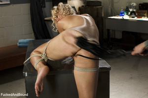 Blonde vixen with roped hands and legs g - XXX Dessert - Picture 13