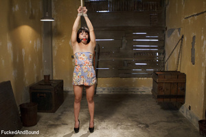 Asian babe gets bound and suspended for  - XXX Dessert - Picture 1