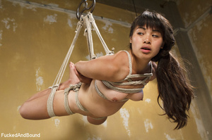 Asian babe gets bound and suspended for  - XXX Dessert - Picture 12