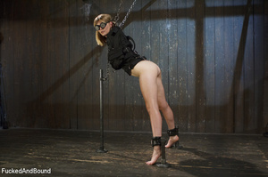 Blonde cutie in weldor's glasses in cuff - XXX Dessert - Picture 2