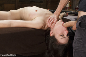 Hogtied ponytailed brunette gets asspoun - XXX Dessert - Picture 2