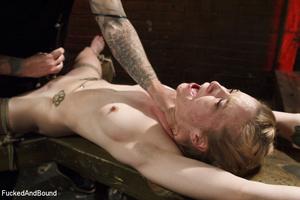 Tattooed blonde hottie gets bound and su - XXX Dessert - Picture 3