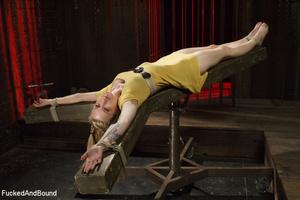 Tattooed blonde hottie gets bound and su - XXX Dessert - Picture 5