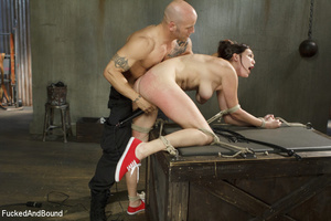 Busty brunette chick gets tortured with  - XXX Dessert - Picture 8