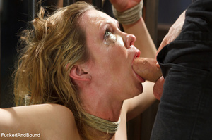 Blonde big-titted MILF gagging with a co - XXX Dessert - Picture 3