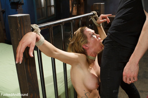 Blonde big-titted MILF gagging with a co - XXX Dessert - Picture 4