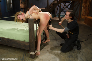 Blonde big-titted MILF gagging with a co - XXX Dessert - Picture 6