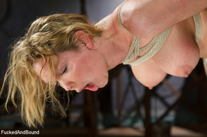 Blonde big-titted MILF gagging with a co - XXX Dessert - Picture 11