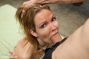 Blonde big-titted MILF gagging with a co - XXX Dessert - Picture 13