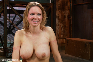 Blonde big-titted MILF gagging with a co - XXX Dessert - Picture 15