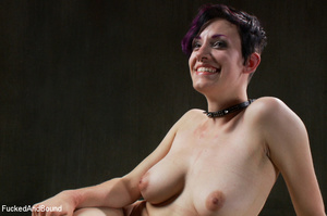 Busty short-haired chick with purple hai - XXX Dessert - Picture 15