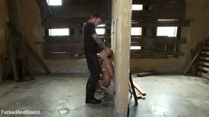Half-bald busty chick gets roped tightly - XXX Dessert - Picture 3