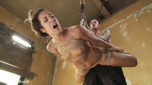 Half-bald busty chick gets roped tightly - XXX Dessert - Picture 8