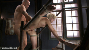 Small-titted blonde vixen with a gag-bal - XXX Dessert - Picture 7