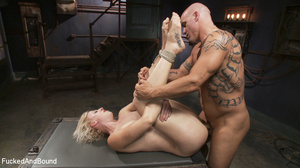 Small-titted blonde vixen with a gag-bal - XXX Dessert - Picture 13