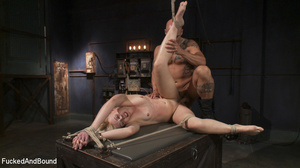 Small-titted blonde vixen with a gag-bal - XXX Dessert - Picture 14