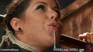 Teen brunette ecpels jizz from her mouth - XXX Dessert - Picture 15
