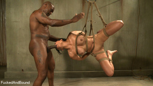 Black master jeering bound and suspended - XXX Dessert - Picture 5