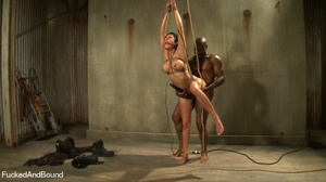 Black master jeering bound and suspended - XXX Dessert - Picture 8