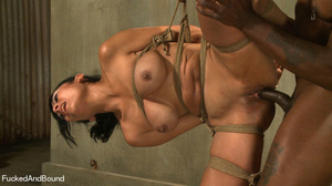 Black master jeering bound and suspended - XXX Dessert - Picture 10
