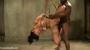 Black master jeering bound and suspended - XXX Dessert - Picture 15