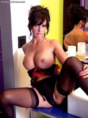 big-titted brunette milf sexy